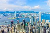 Scene of the Victoria Harbour — Stock Photo