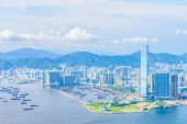 Victoria Harbour in Hong Kong. — Stock Photo