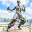 Bruce Lee statue at the Avenue of Stars — Stock Photo #54037901
