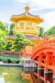 金中国馆在香港公园 — 图库照片