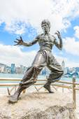Bruce lee socha na avenue of stars — Stock fotografie