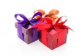 Luxe-geschenketui geïsoleerd op witte achtergrond — Stockfoto
