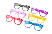 Renkli gözlük üzerine beyaz izole — Stok fotoğraf