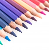 Color pencil isolated on white background — Stock Photo
