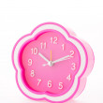 Pink alarm clock isolated on white background — Stock Photo #54833777