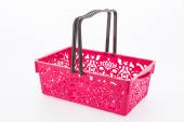Shopping plastic basket isolated on white background — 图库照片