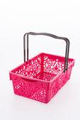Shopping plastic basket isolated on white background — Stock fotografie
