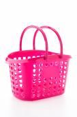 Shopping plastic basket isolated on white background — Foto Stock