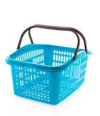 孤立的白色背景上的购物塑料篮 — 图库照片
