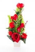Vase flower isolated on white background — Stock Photo