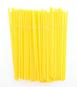 Plastic straw isolated on white background — Stock Photo