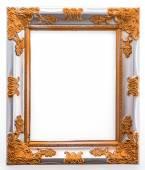 白い背景上に分離されて木製のフレーム — ストック写真