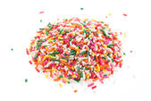 Sprinkles isolated on white background — Stok fotoğraf