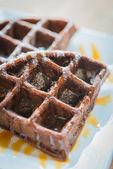 Chocolate waffle — Stockfoto