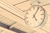 White round Clock — Стоковое фото