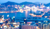 Gebäude Bokeh in Hongkong — Stockfoto