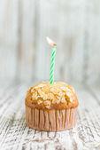 Birthday Banana muffin — Stockfoto