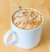 Hot caramel coffee — Stock Photo