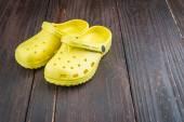 Plastic slipper shoes — Stock Photo