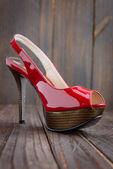 Red high heel — Stock Photo