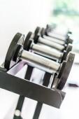 Dumbbell  fitness equipment — Stock Photo