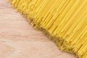 Pasta on wooden background — Stock Photo