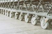 Shopping cart wheel — Stock Photo