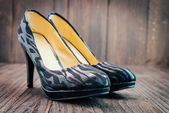 Black high heel — Stock Photo