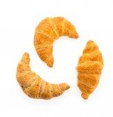 Croissant isolated on white background — Stock Photo