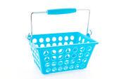 Shopping plastic basket isolated on white background — Stock Photo