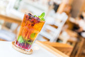 Fruits cocktail mixed — Stock Photo