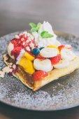Fruit waffle — Stock Photo