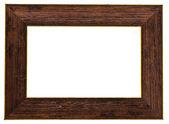 Wooden frame isolated on white background — Stock Photo
