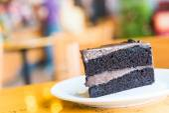 Kawałek ciasto czekoladowe — Zdjęcie stockowe