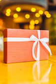 Gift box with ribbon — Foto de Stock