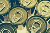 Aluminum cans texture — Stock Photo