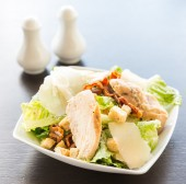 Grilled chicken salad - healthy food — Stock Photo