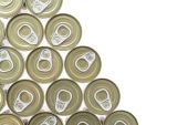 Top of view aluminum cans — Stock Photo