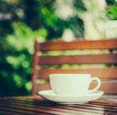 Latte coffee cup — Stock Photo