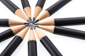 Circle of graphite pencils — Stock Photo