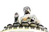 Buddha statue in Hong Kong — Stock Photo