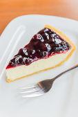 Blueberry cheese cake — Stock Photo