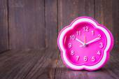 Pink alarm clock — Stock Photo