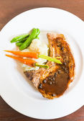 Pork chop steak — Stock Photo