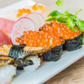 Nigiri sushi rolls — Stock Photo