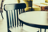 Chairs in coffee shop — Photo