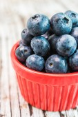 Red blueberry cup — Stock Photo