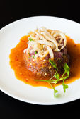 Spicy Tuna tartar — Stock Photo