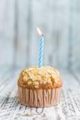 Birthday Banana muffin — Стоковое фото