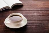 šálek černé kávy — Stock fotografie